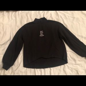 Black mock neck graphic Zara sweater